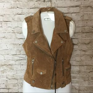 Blank NYC carmel colored suede vest